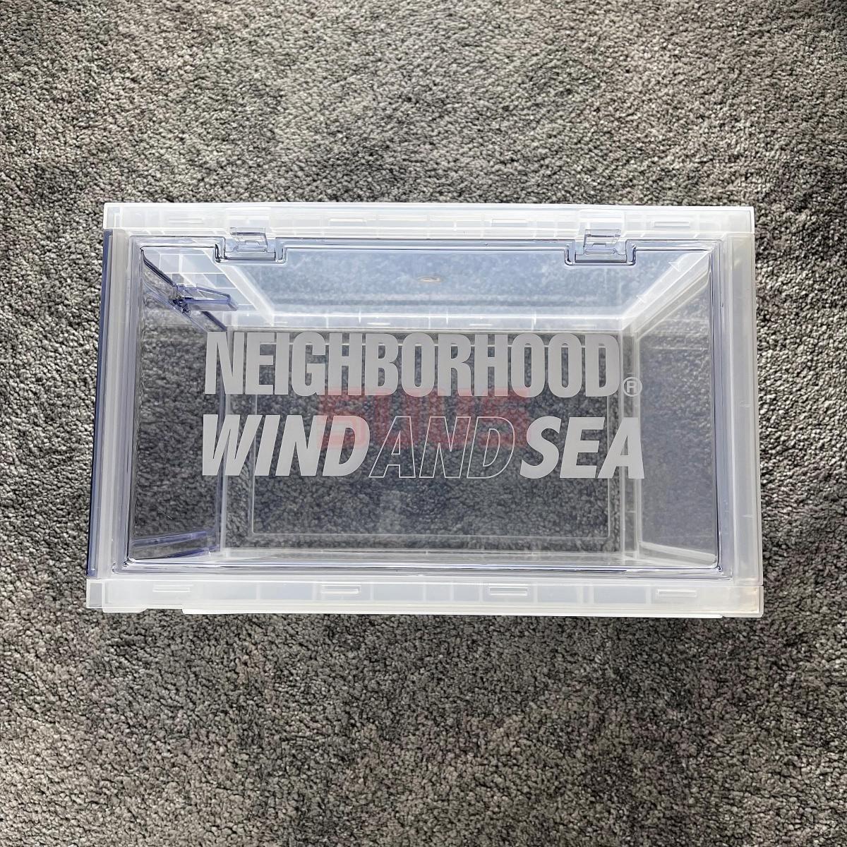 杭州现货 NEIGHBORHOOD Wind And Sea联名透明收纳鞋盒 21SS