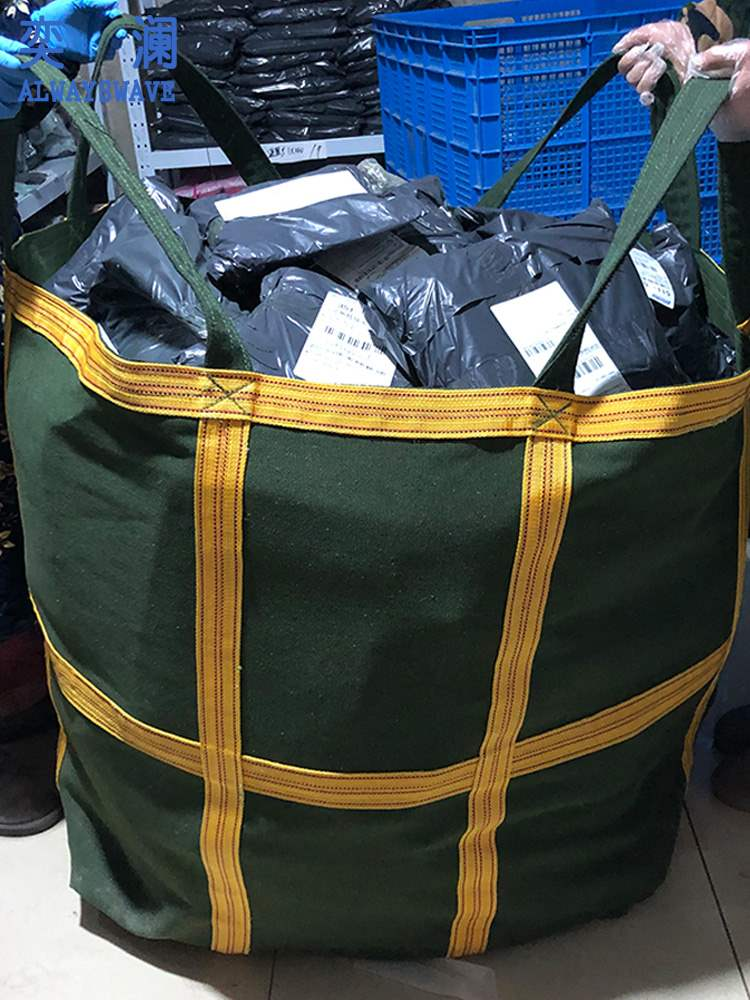 Forklift pallet bag Yilan canvas ton bag 1t thickened soft space bag sand cement 2T hanging bag aerial crane