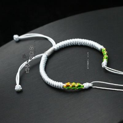 纯手工金刚结半成品双开口DIY手绳转运珠天珠搭配配饰手绳可调节