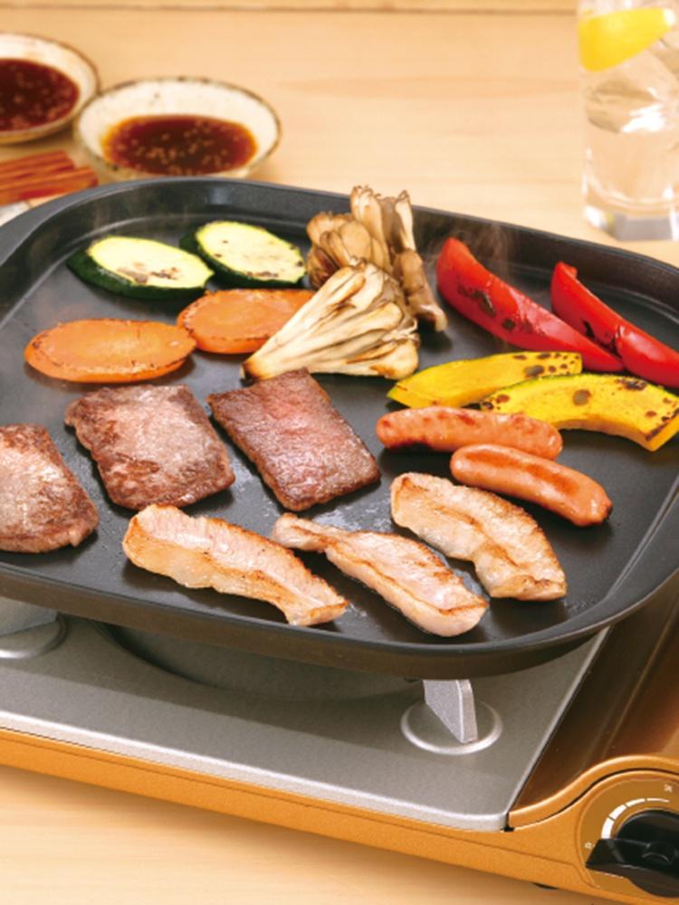 [cocostyle]岩谷Iwatani铁板烧烤盘煎盘卡式炉适用烤鱿鱼家用便携