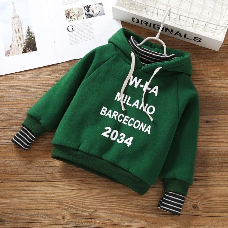 Top English Hoodie sweater handsome fashion half high collar clothes boys loose mens and womens green long spring clothes