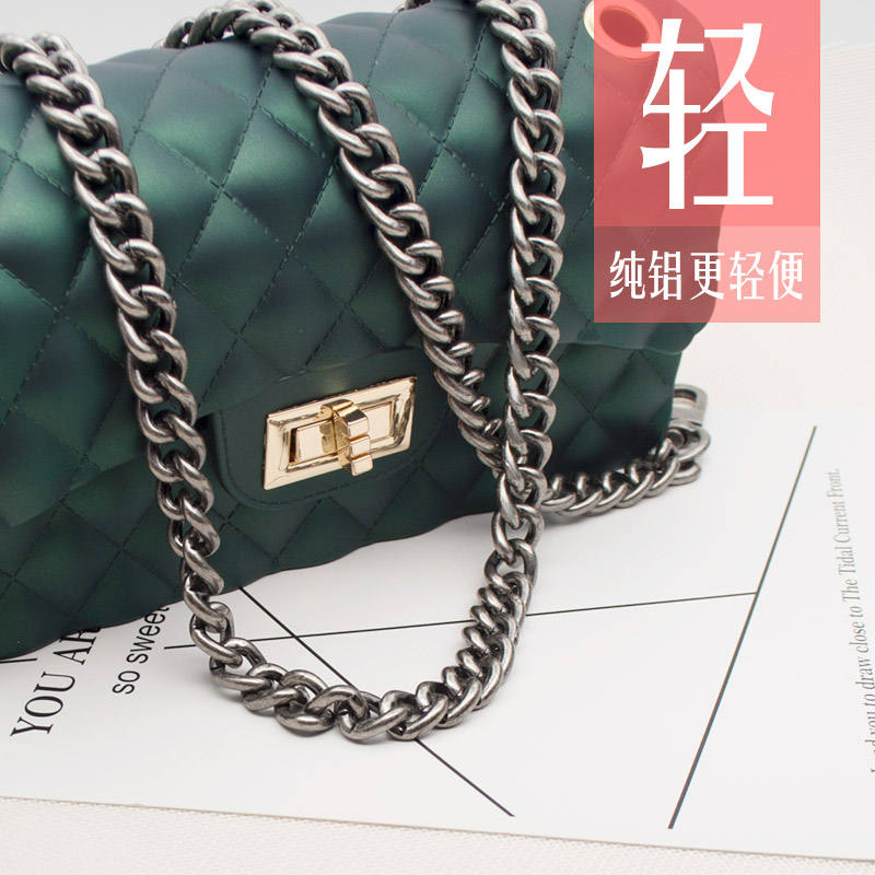 Bag chain accessories detachable bag chain single shoulder slant chain high grade colorfast versatile thick and wide buckle free chain belt