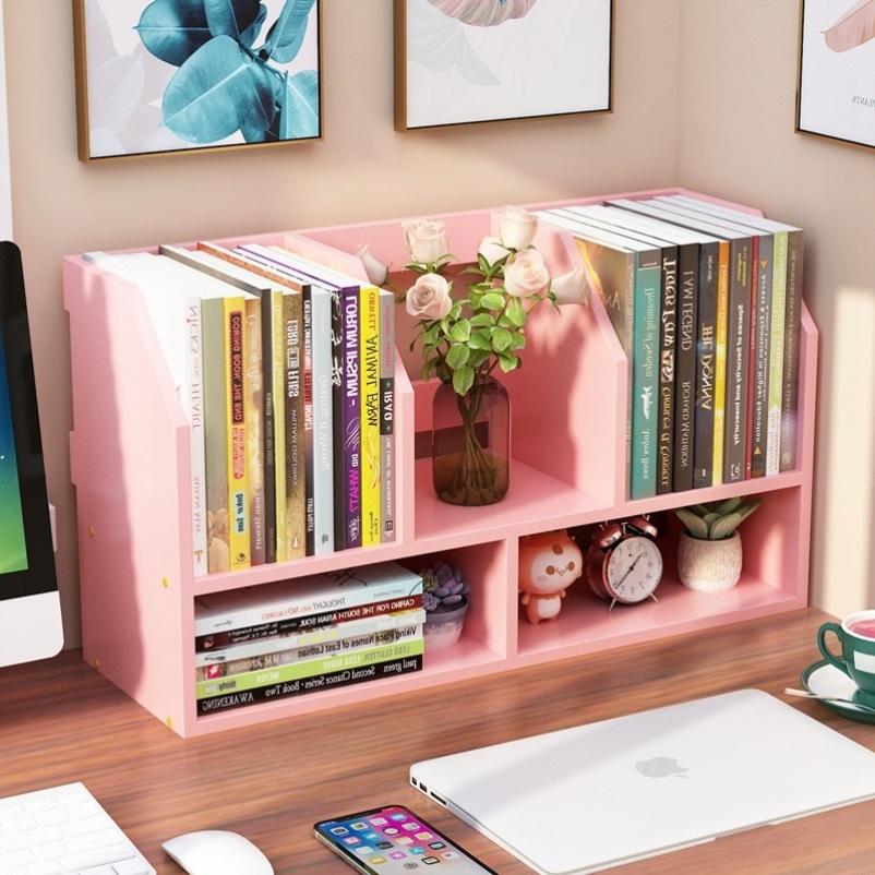 书桌上的书架白色简易放东西的置物架多层小尺寸网红书柜北欧风格