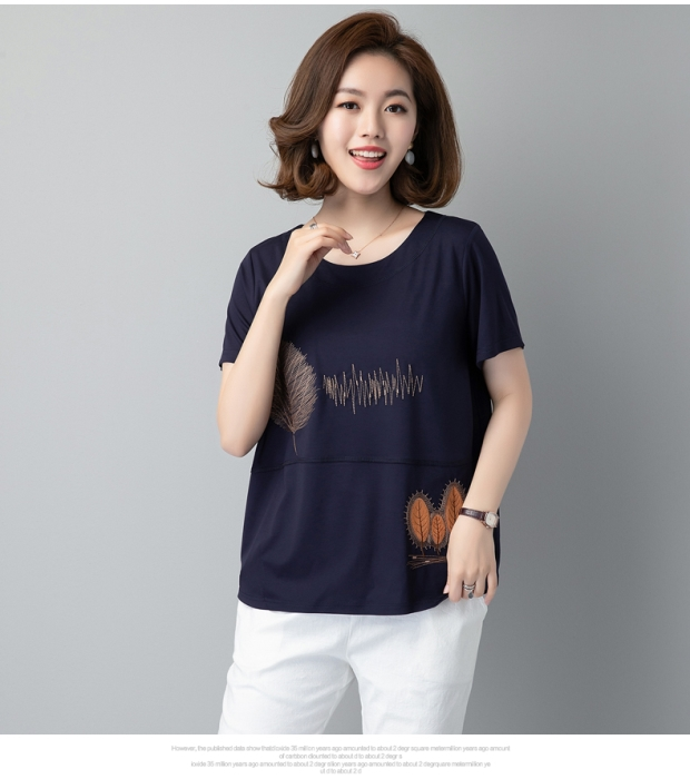 Mothers summer clothes small old peoples mothers clothes national style five sleeve summer female fat mother high-grade