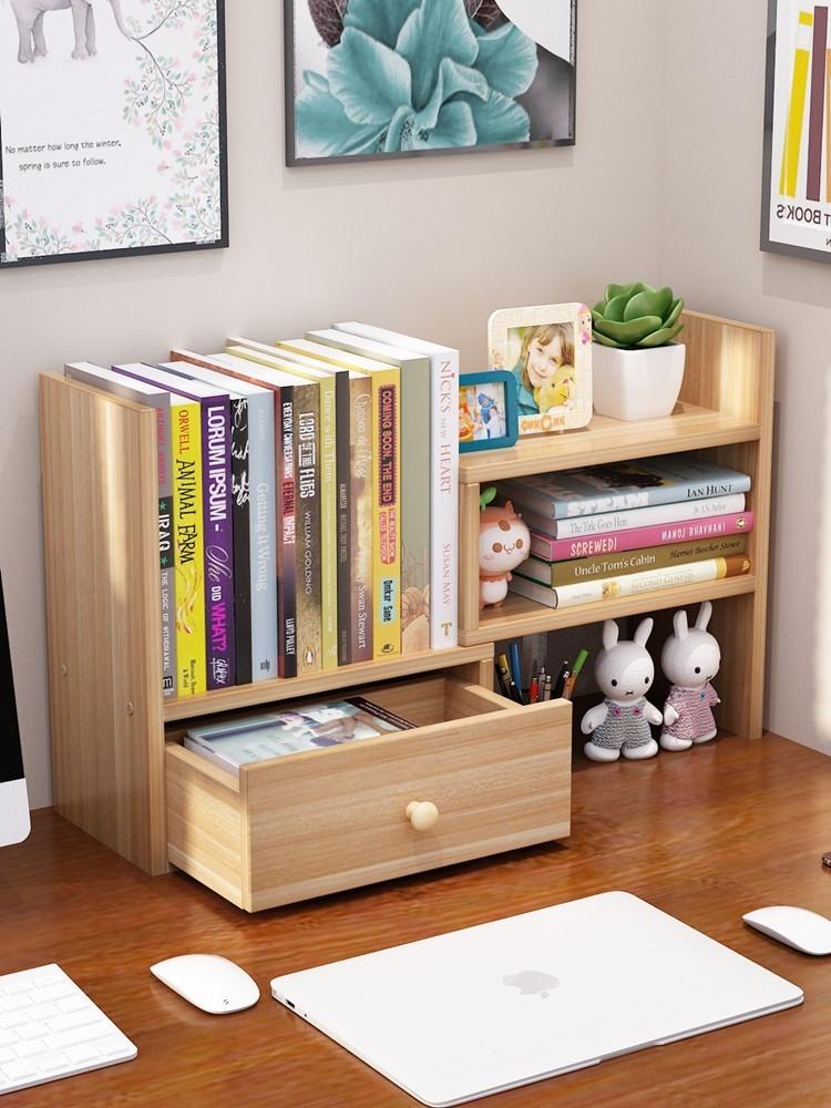 棚棚棚は簡単で小さいデスクトップの棚の小さいサイズのミニ本棚の棚の上で多機能です。