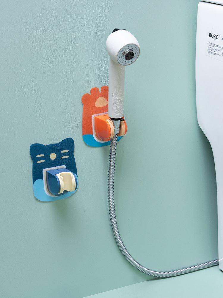 。免打孔固定淋浴喷头挂座花洒吸盘支架淋雨头浴室淋浴器配件底座