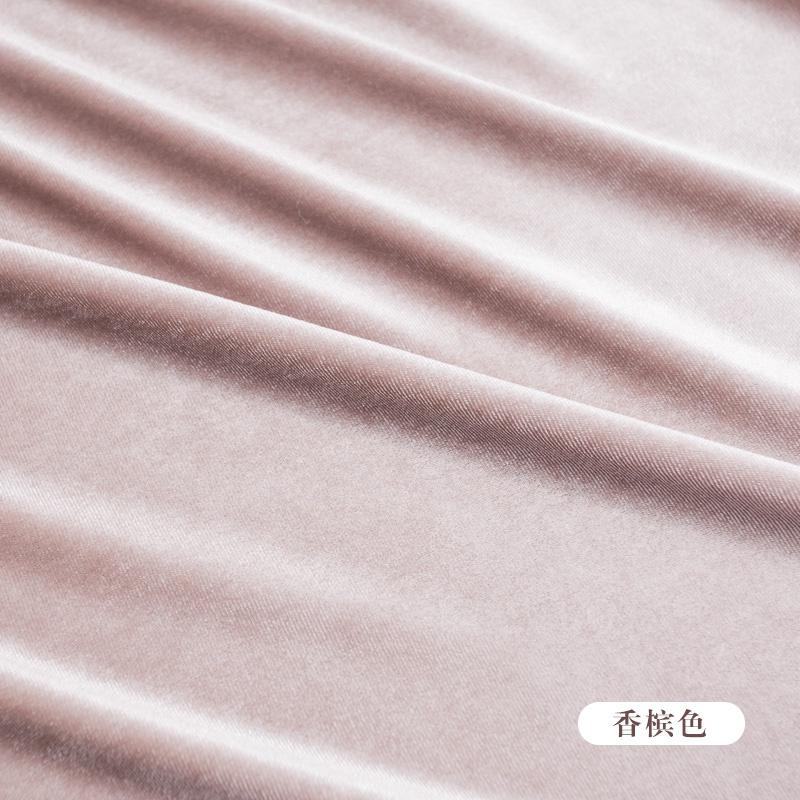 Elastic velvet drape clothing solid color leg four side flannelette gold dress fabric suit pants high-end wide fabric