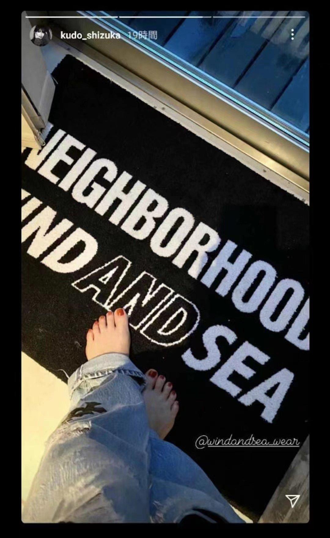 现货 NEIGHBORHOOD x Wind And Sea 21SS 联名地毯