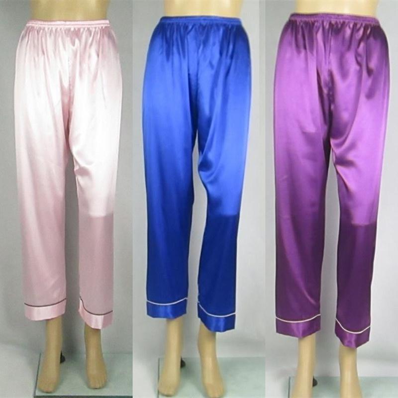 女裤九分绸缎春冰裤肥丝家居空调裤子款加夏季月子款薄裤睡裤丝绸
