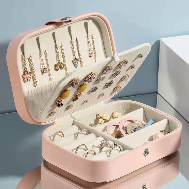 盒首饰小盒子项链收纳饰品首饰盒便携家用耳环手环戒指耳钉大容量