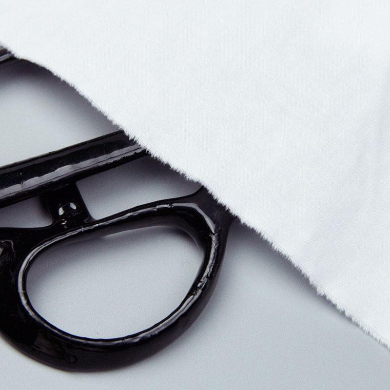 纯棉布料夏季白服装连衣裙棉新款纯色布料坯布白色衬衫梭织全面料