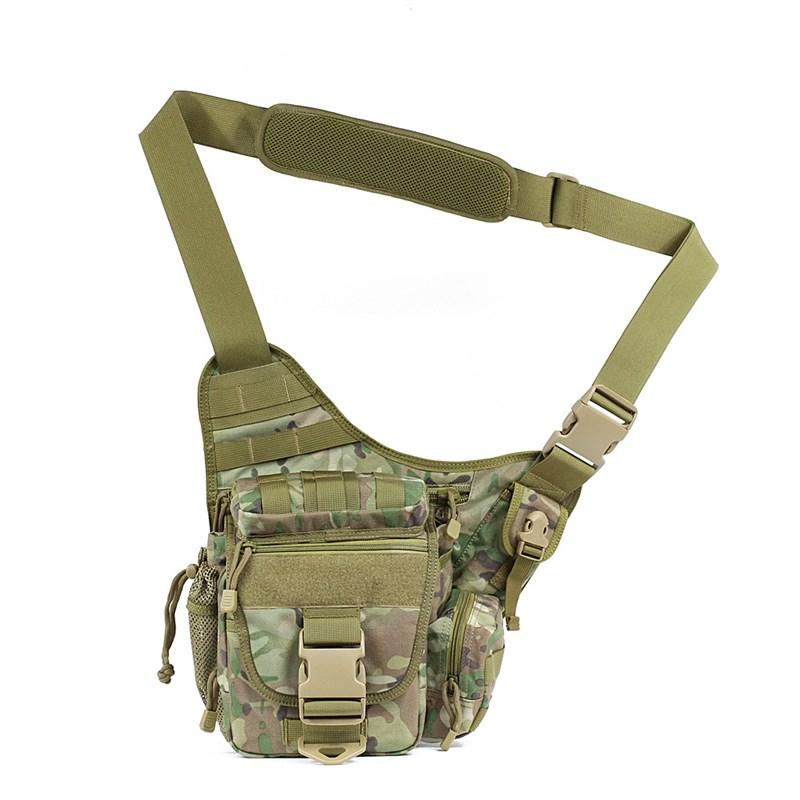 1000闲 CORDURA塘鹅鞍袋户外旅游战术D肩包男休单摄影机动鞍包