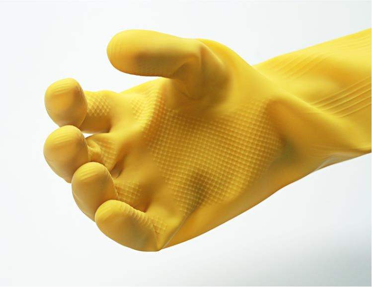 Boys rubber gloves wear-resistant cleaning special housewife cleaning cloth washing warm plastic.