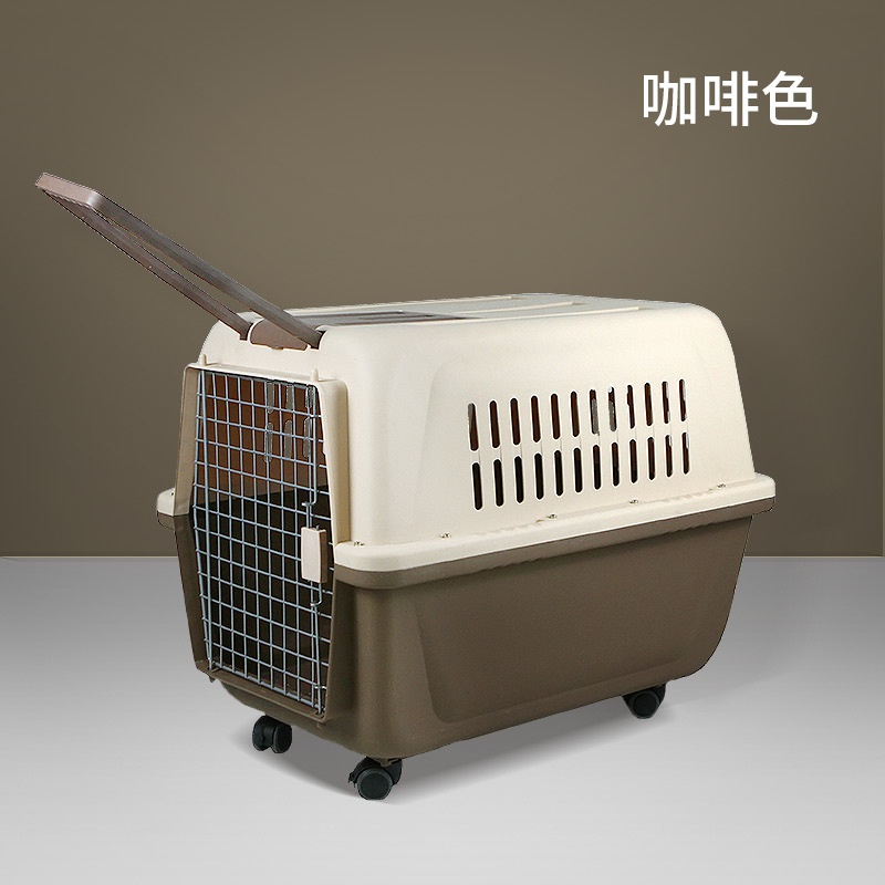 Dog consignment air transport medium dog bag air empty box dog portable cage out cat cage dog cat portable box pet