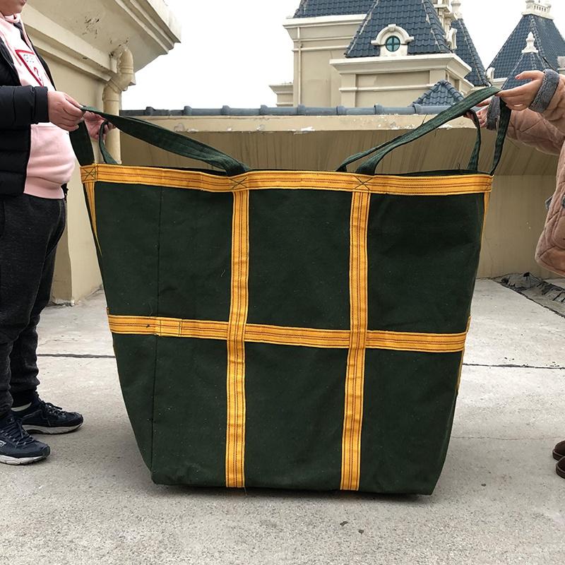 帆布吨袋 1吨包袋 加厚软托盘布料太空袋沙子水泥2吨吊袋航吊叉车