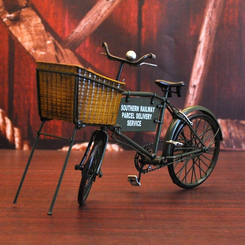 展厅展示架工艺架铁艺自行车模型摆件民国仿古装饰品摆设复古摆。