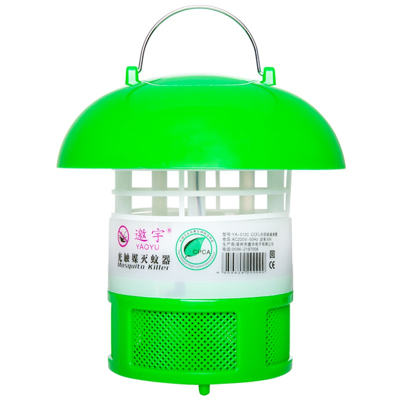 The utility model relates to a small black tube mosquito killing lamp, which is a household silent photocatalyst electronic trapping and driving mosquito killing lamp.
