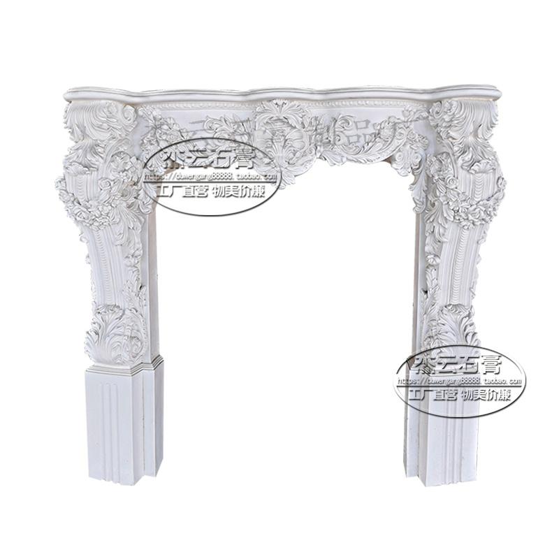 罗马雕花璧壁炉石膏浮雕s花柱角盘