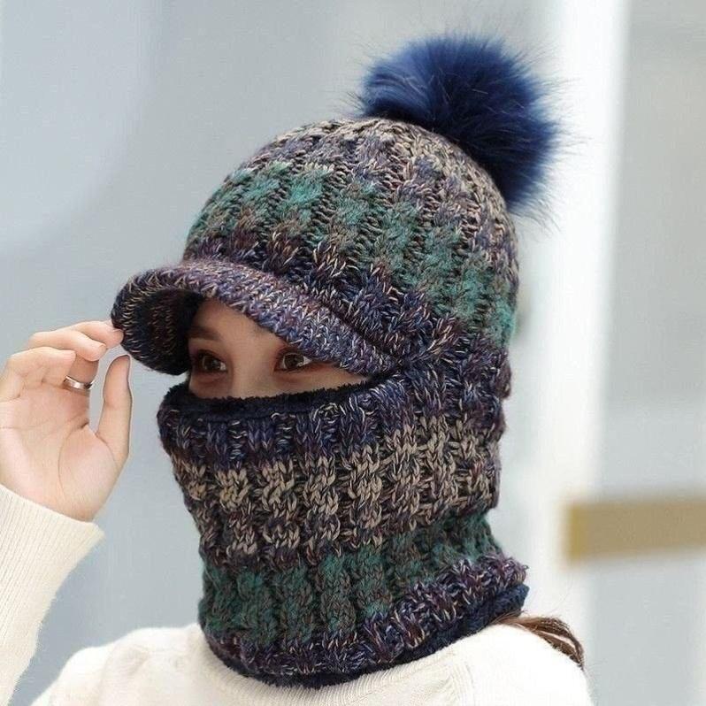儿童帽子加绒女童男童秋冬挡风护耳百搭中大童小学生一体毛线帽潮