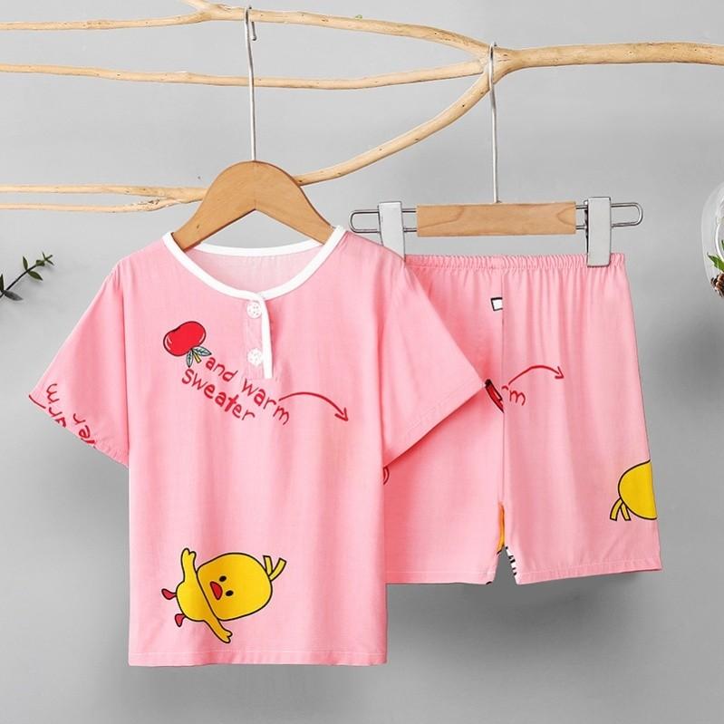 中國代購|中國批發-ibuy99|家居服男|。女童夏季棉绸儿童睡衣短袖薄款绵绸女孩小童宝宝家居服套装男童