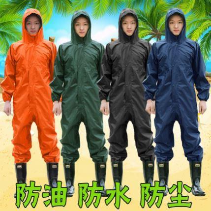 汚れに強い成人用隔離服作業男は全身冬場の防毒養殖作業服で、ズボンを含む保護服が緩んでいます。