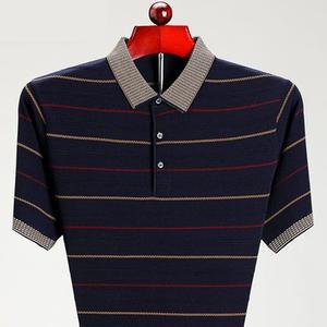 2021新款夏季中年男士装短袖polo衫