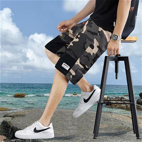 Camouflage mens shorts summer casual pants Q sub 7 thin out wear trend loose O mens tooling 5 MC