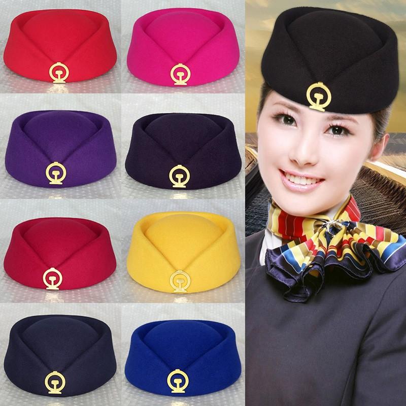 Hat steward EMU student railway school womens hat etiquette performance new railway conductor hat high speed railway