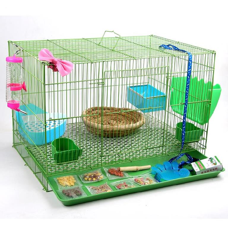 Manual plastic pet luxury fashion rabbit cage family apartment carrying rabbit out of the house