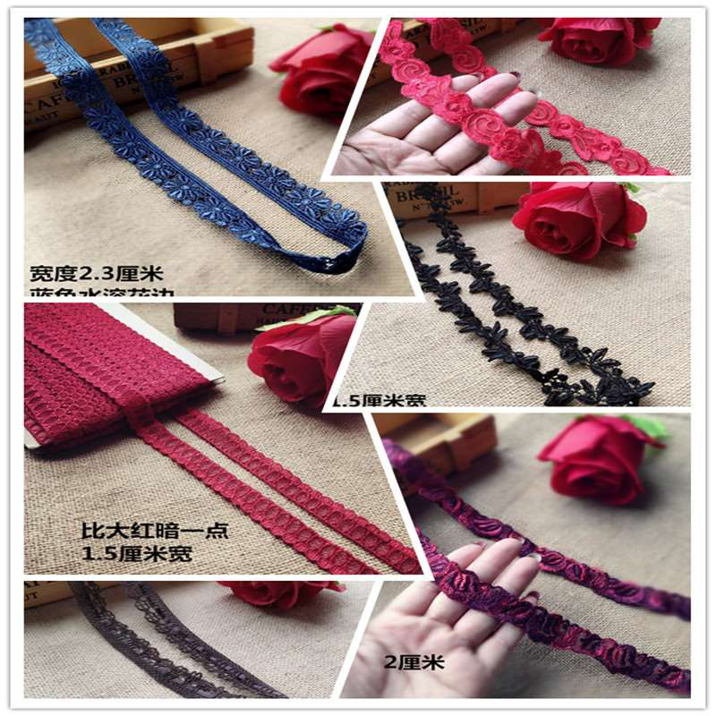 2m long assorted narrow lace accessories set w Hand DIY Necklace neckline cuff decorative lace package