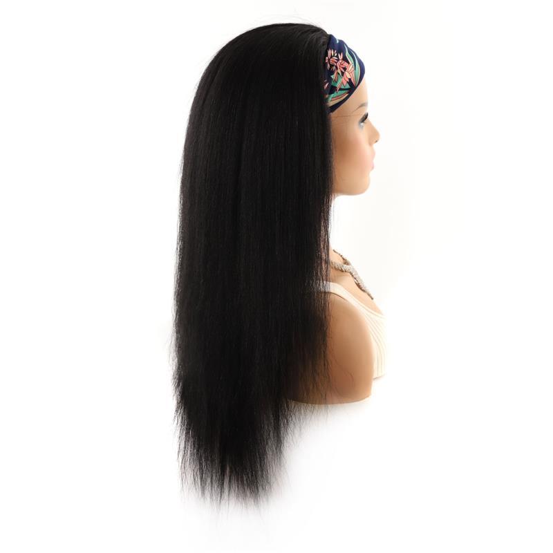 Foreign trade hair belt WIG HEAD l set mixed real hair wig long hair head set Yaki silk wig head set