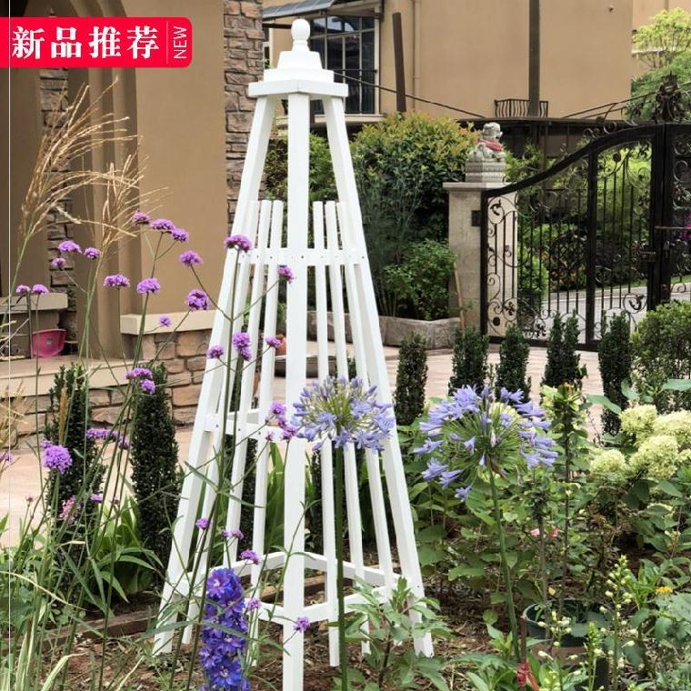 地面铁艺架小花园玫瑰藤蔓花架月季