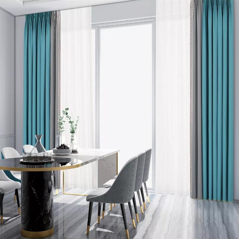 Nordic style modern simple full shading wash free waterproof shading heat insulation living room bedroom custom curtain Guerlain