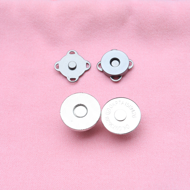 Magnet button wallet magnetic button bag invisible hidden button no seam bag suction cup type metal snap fastener accessories.