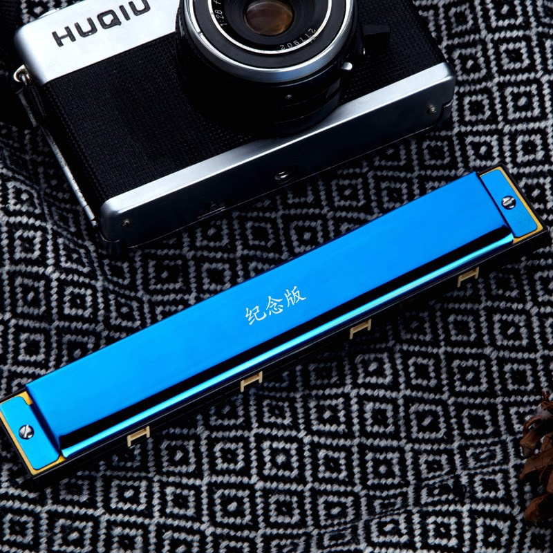 Harmonica beginner adult 24 hole polyphony C key childrens student professional performance introduction male instrument