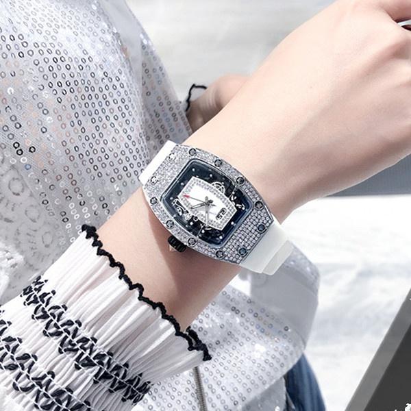 十大品牌名媛网红米勒气质潮女表满天星水钻个性腕表休闲女士手表
