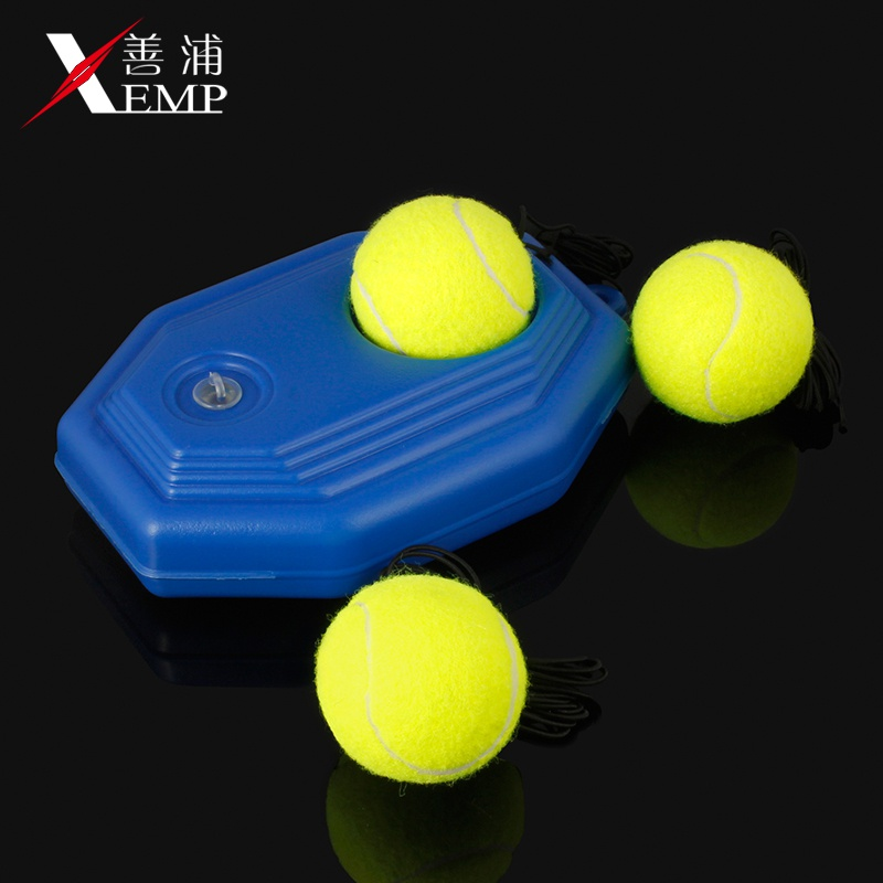 Tennis Trainer exerciser with rope fixed singles integrated rebound net for beginners to practice with childrens men.