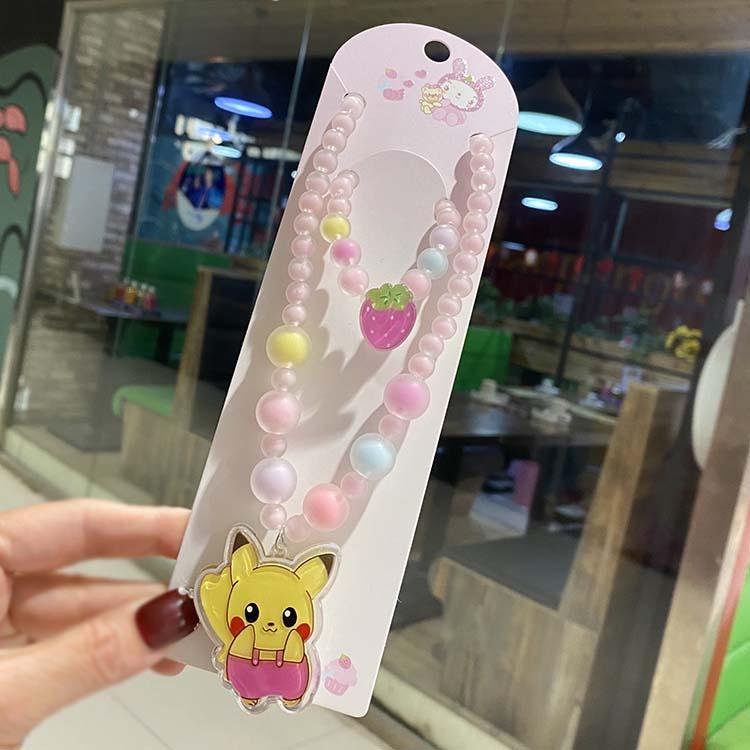 项链小女孩饰品可爱公主E日韩带亮灯发光卡通动物饰品儿童串珠手