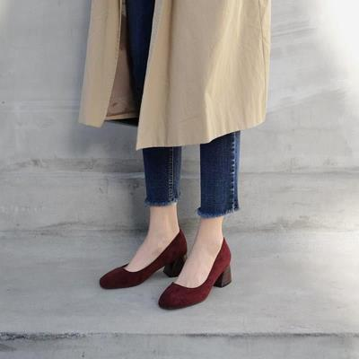 . Fashion shoes new style student work simple female thick heel autumn personality female versatile Korean light high heel lady autumn