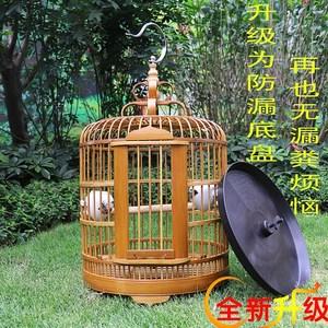 鸟笼大号特大号大竹子芙蓉洗澡雕刻竹条虎皮竹片笼子白头翁。