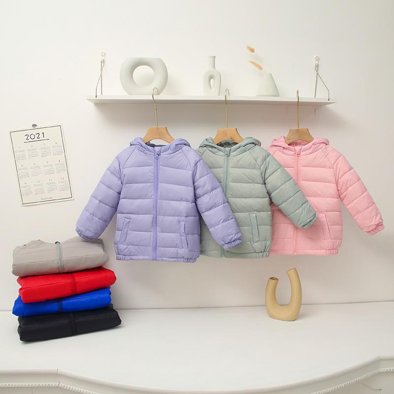 儿童羽绒服轻薄款秋冬季男童外套休闲反季女童宝宝白鸭绒保暖外套