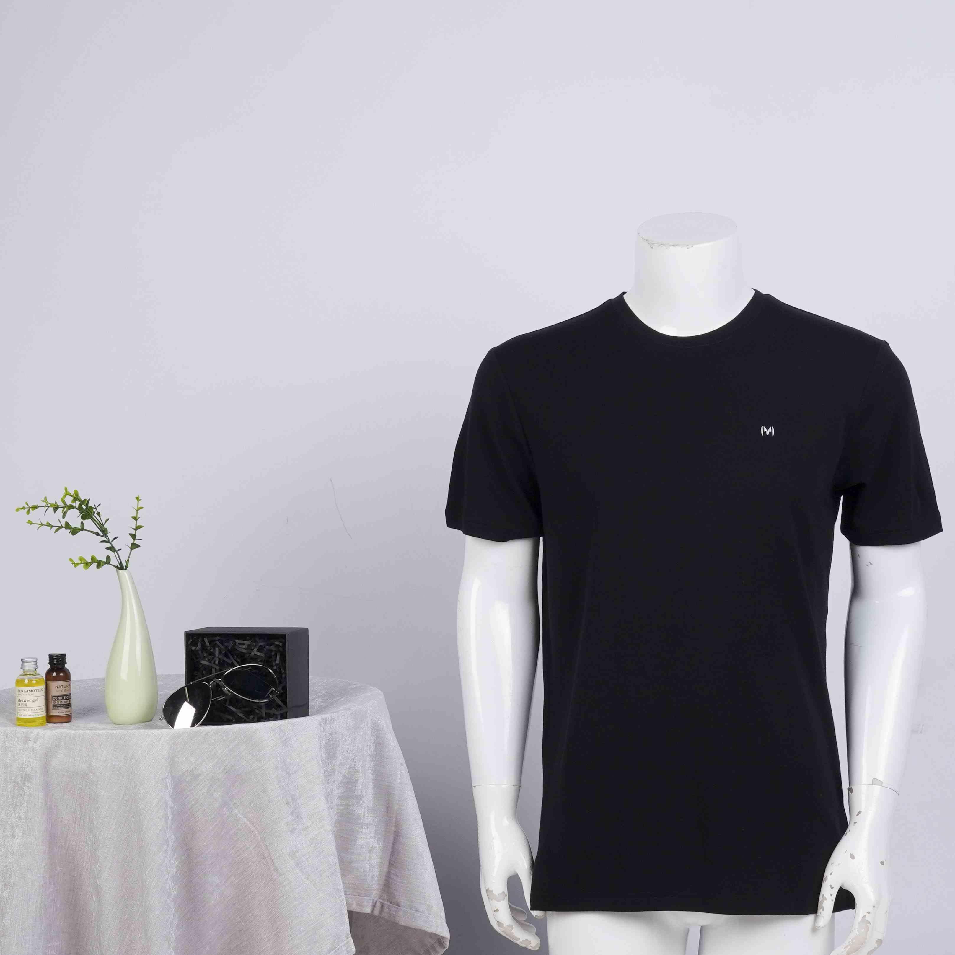 Maysheep / maysheep summer short sleeve t-shirt mens summer round neck bottom shirt solid color half sleeve top fashion
