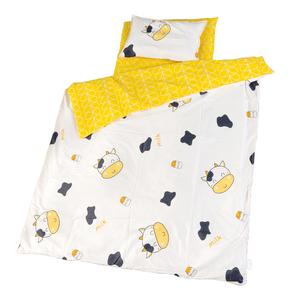 拼接床三件套含芯四件套儿童床被B子被套婴童纯棉床笠三件套枕头
