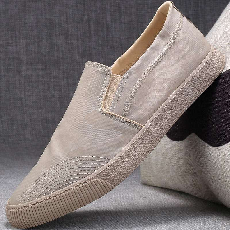 Quick drying ice silk cloth shoes mens shoes summer breathable retro y one foot old Beijing fashion shoes mens casual canvas