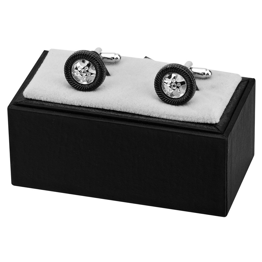 高档袖扣男士法式衬衫袖口钉衬衣扣黑色圆形汽x车轮胎袖钉个性订
