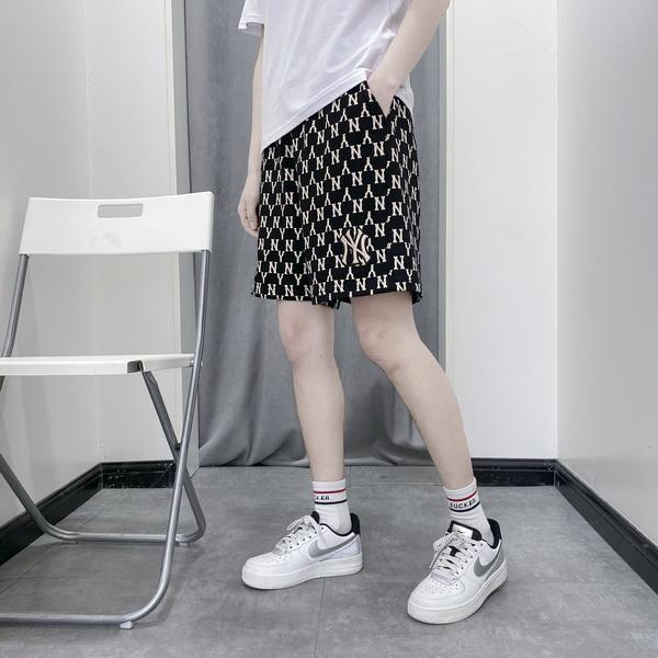 韩国mlb短裤男女百搭ny经典运动裤