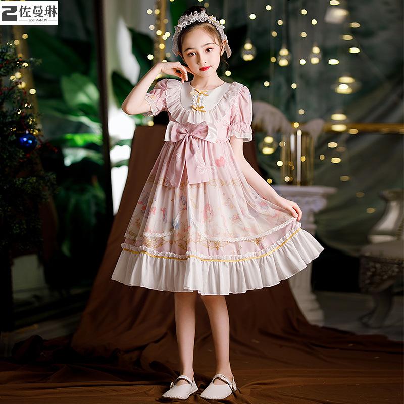 萝莉塔女童连衣裙儿童公主裙洛丽塔裙子春秋长袖lolita洋装小学生