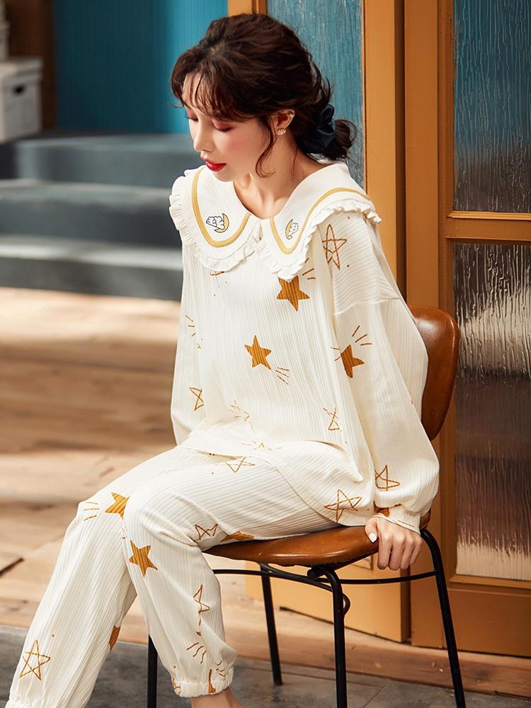 春秋长袖纯棉2021年新款夏性感睡衣