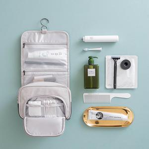 迷度系列羊巴纹PU化妆包便携洗漱包出差旅行收纳包手提挂钩洗漱包