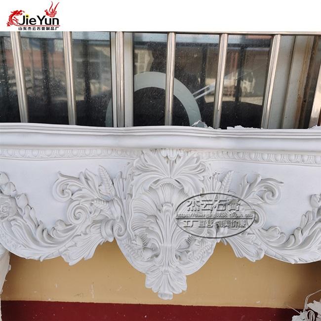 餐厅线条欧式浮雕石膏壁炉罗马柱
